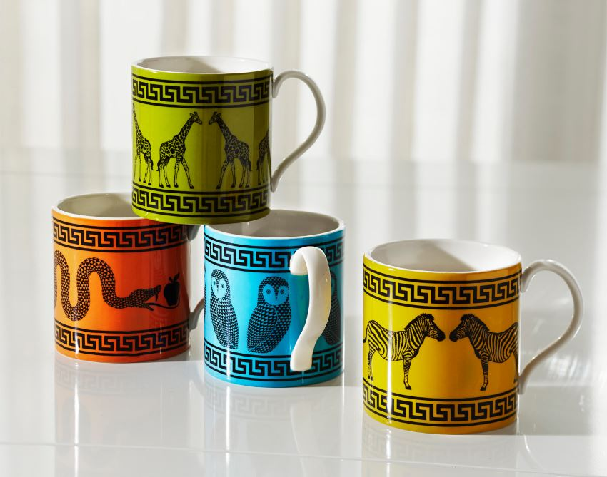 Carnaby Greek Key Mugs from Jonathan Adler