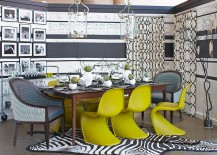 Chairs-along-with-simple-accents-bring-bold-lime-green-to-this-dining-space-217x155