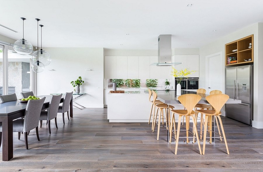 Cherner bar stools add style and elegance to the kitchen