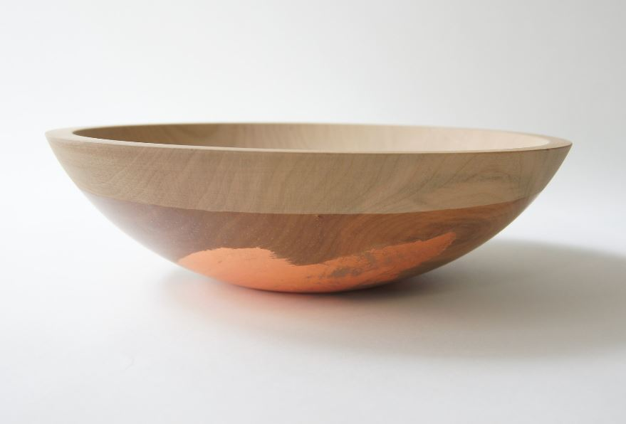 Cherry wood and copper bowl from Wind & Willow Design