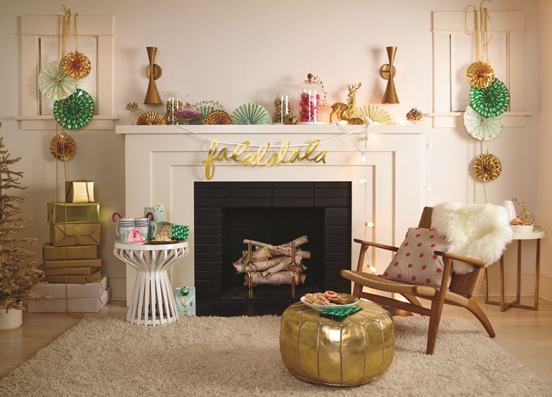 Christmas decor from the Oh Joy! For Target Winter Collection