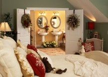 Christmas decorating idea for the master bedroom