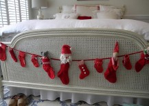 Christmas with a Swedish touch in the bedroom