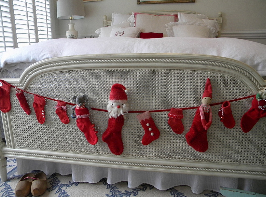 Christmas with a Swedish touch in the bedroom [From: Christie Thomas]