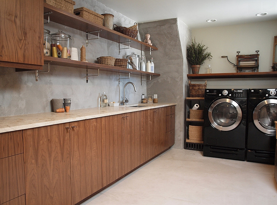 Combine your crafty needs with the laundry room [Design: Normandy Remodeling]