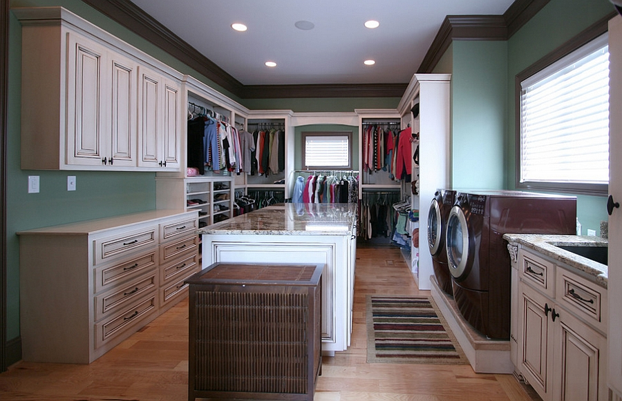 lovely Kitchen Laundry Combo Designs #6: ... Combine your dressing room with the laundry in grand style [Design:  Walker Woodworking]