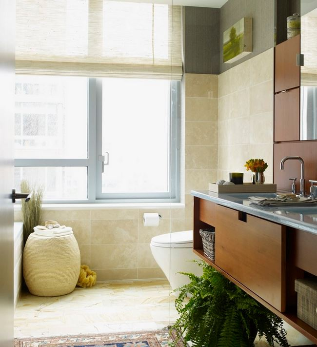 Comfy New York bathroom filled with texture
