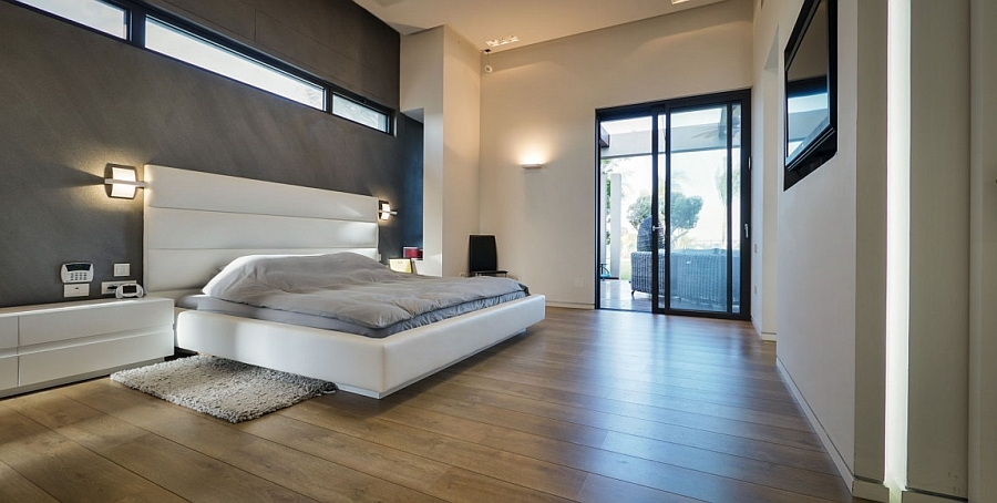 Contemporary bedroom with a sleek, minimal style