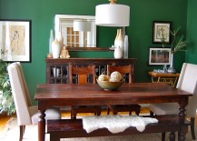 Contemporary-dining-room-with-a-splash-of-Emerald-Green-217x155