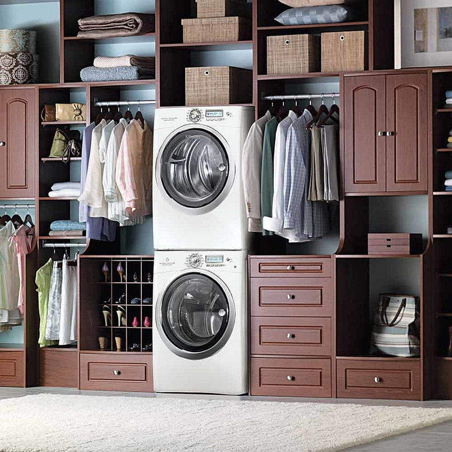 Contemporary master closet along with the laundry is a match made in heaven! [From: Electrolux US]