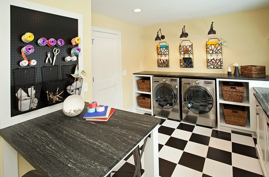 Cool crafts zone along with the laundry [Design: Refined]