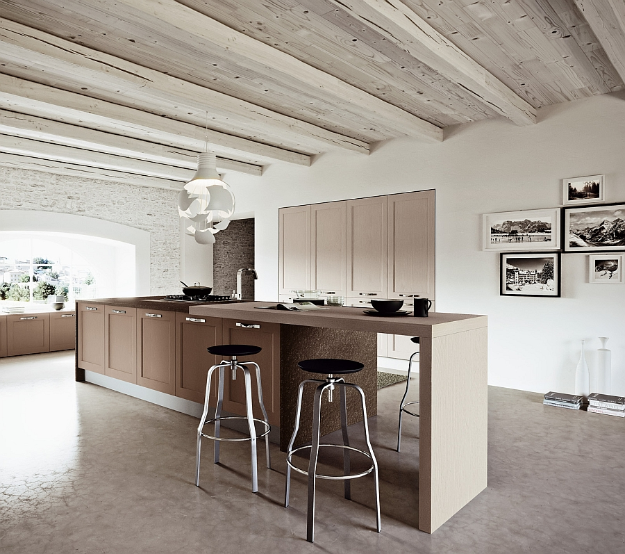 Cool modern kitchen in Cherry and Decapé Ash