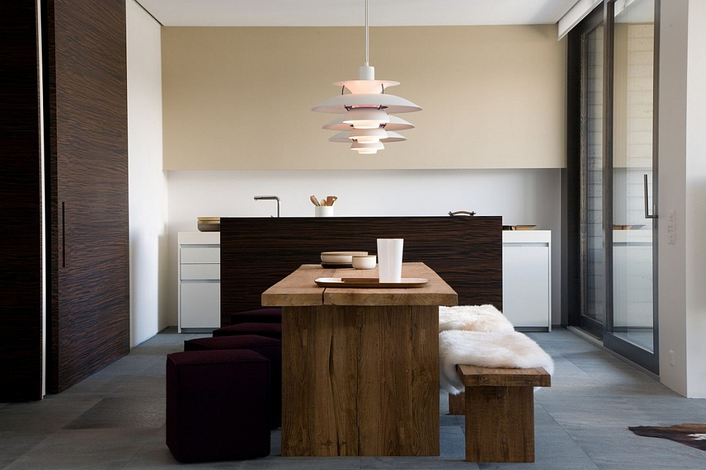 Cozy dining and ergonomic kitchen with chic style
