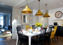 Creative blend of black and yellow in the dining 217x155 How to Use Yellow to Shape a Refreshing Dining Room