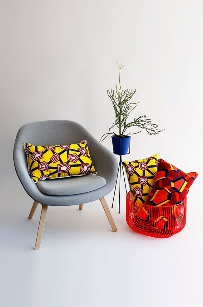 Cushions designed by Nathalie du Pasquier
