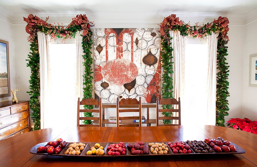 Custom holiday decor and wall mural for those who love to innovate! [Design: Regina Gust Designs]