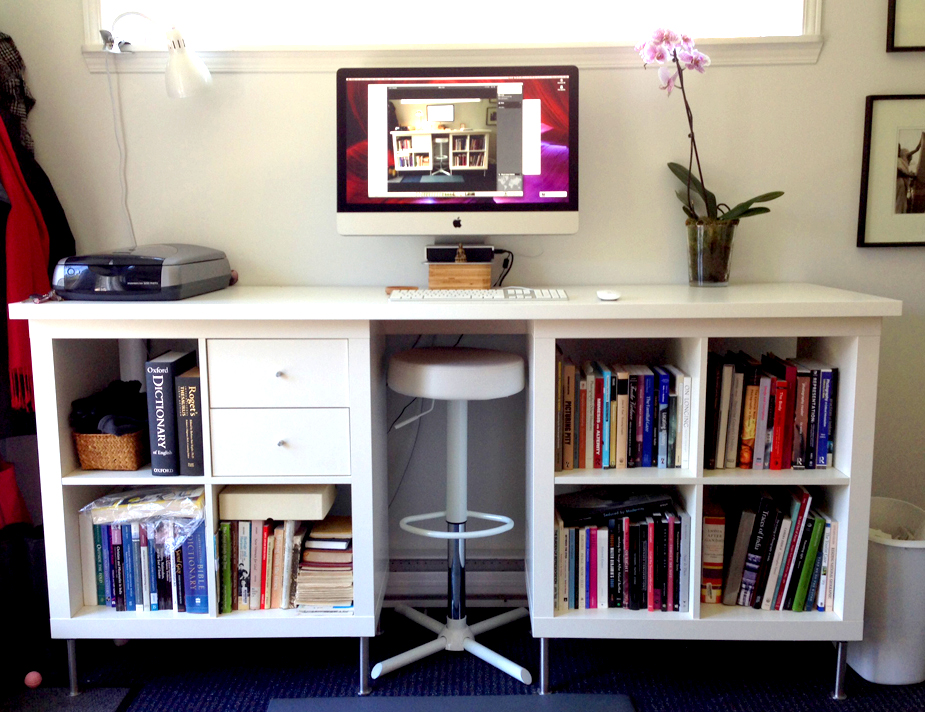 DIY Standing Desk Made of IKEA Products
