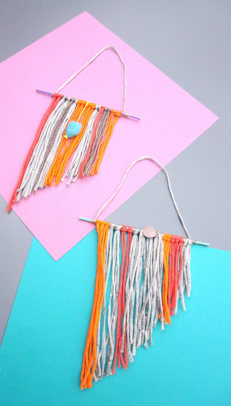 DIY boho chic mini wall hangings-001