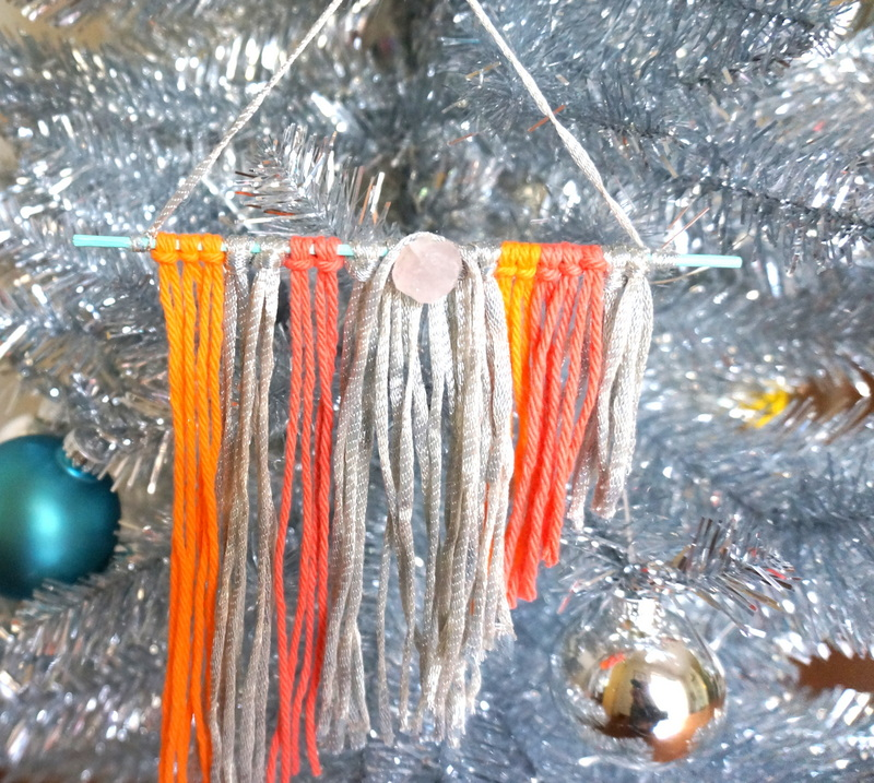DIY boho chic ornament tutorial Colorful DIY Boho Chic Ornaments