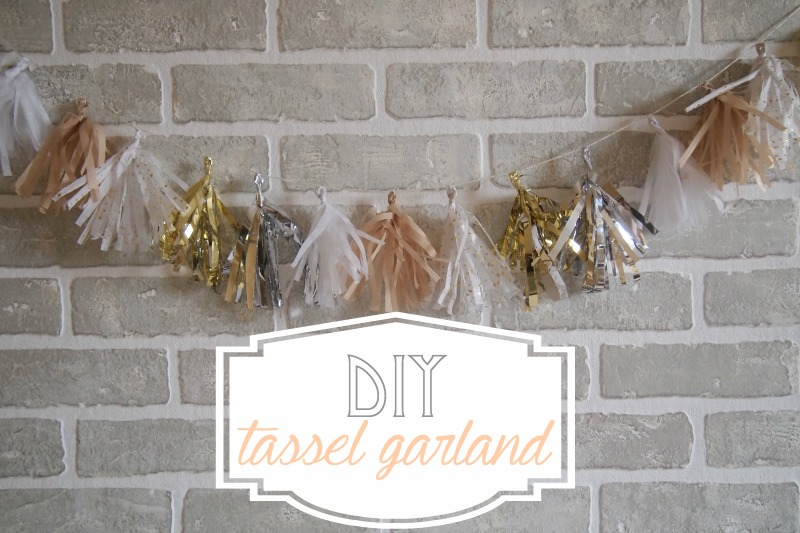 DIY tassel garland Make a Tassel Garland out of Leftover Christmas Paper!
