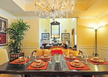 Dazzling Mediterranean dining room in yellow