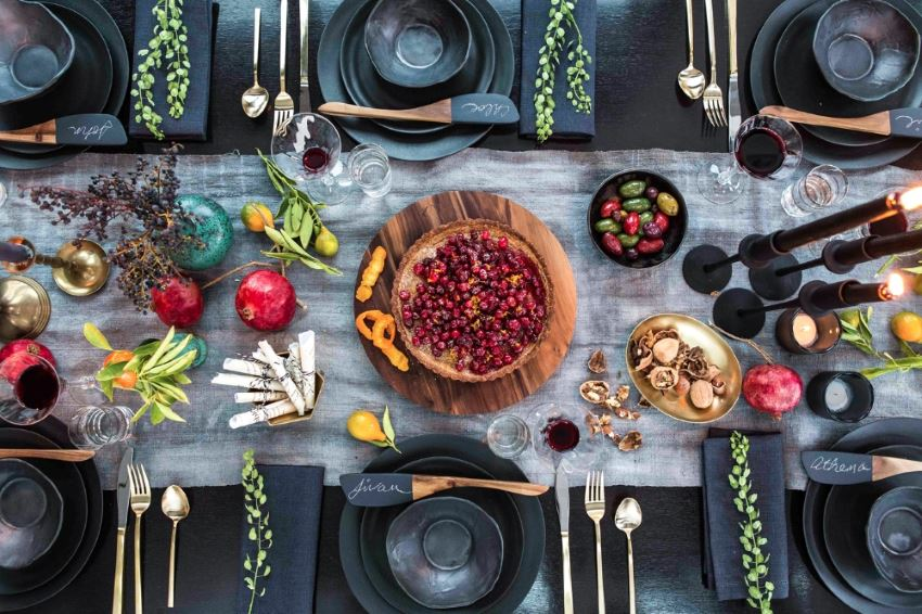 Decadent holiday table by Athena Calderone