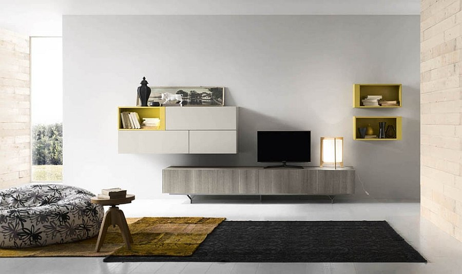 Delicate pattern and textural beauty enhance the appeal of the wall units