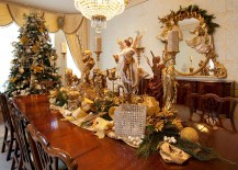 Dress up the dining room in gold this Holidays