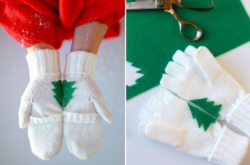 Easy DIY tree mittens