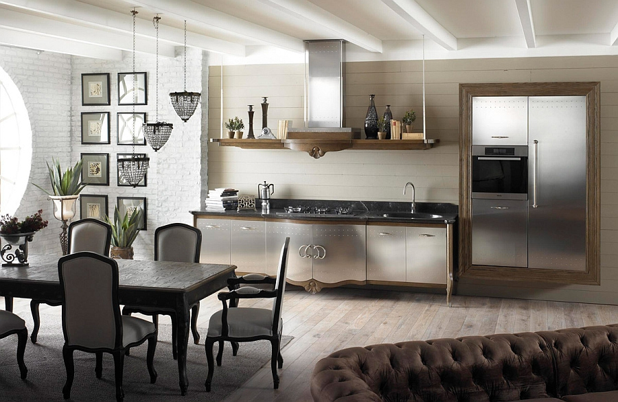 Elegant use of black to create visual impact in the kitchen