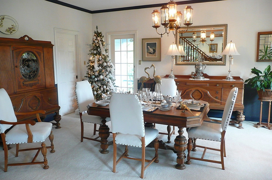 Embrace the beauty of white Christmas in the dining room! [From: Michelle]