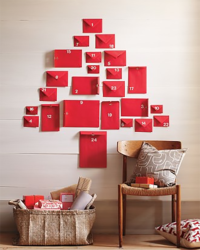 Minimalist Advent Calendar : Pared down christmas decor ideas for minimalist homes