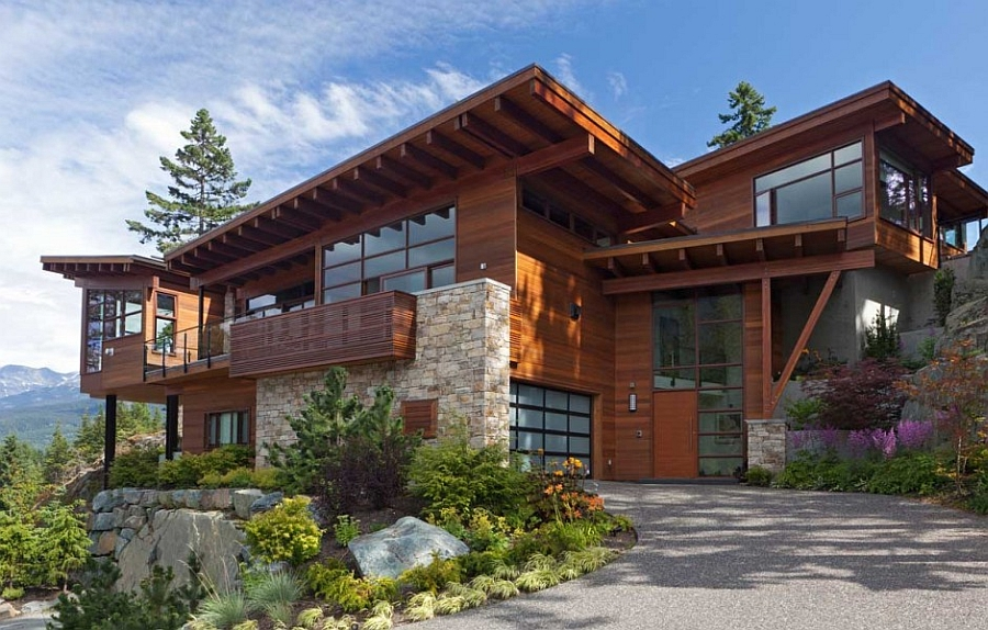 Sweeping mountain lake views modern chalet architecture for Chalet style homes for sale