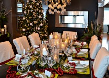 Fabulous Christmas decorations for the modern dining room