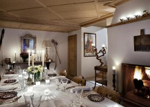 Fabulous dining room with fireplace