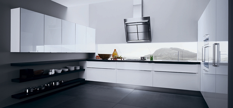 Fabulous use of black and white in the contemporary kitchen