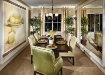 Fabulous use of green in the elegant dining room 217x155 How to Use Green to Create a Fabulous Dining Room