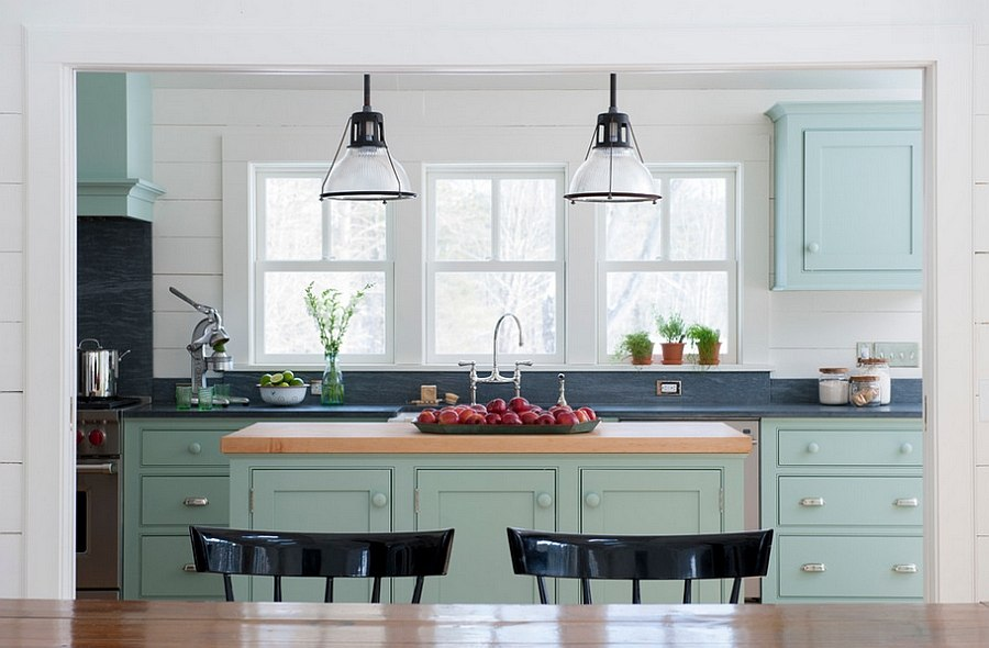 Farmhouse style kitchen with a touch of timeless class! [Design: Rafe Churchill: Traditional Houses]