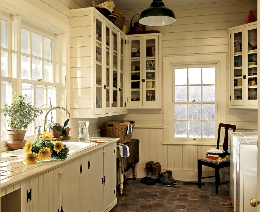 Farmhouse style potting and laundry room [Design: Crisp Architects]