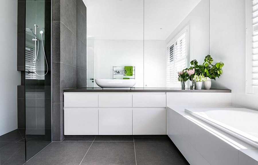 Cheerful modern home in melbourne with a posh minimal vibe for Bathroom designs melbourne