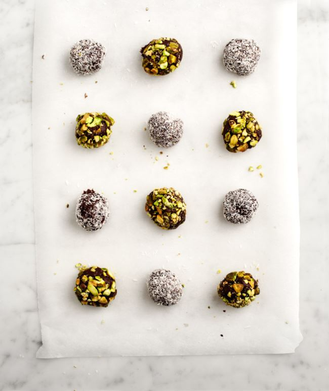 Festive holiday truffles