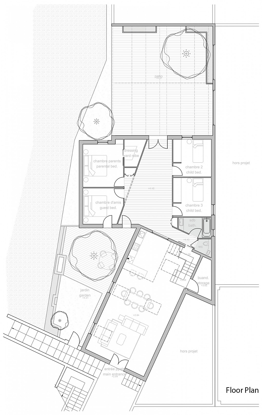 Floor plan of old paper mill converted into modern loft
