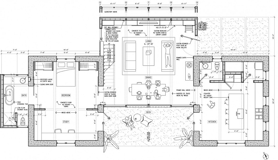 Floor plan of the Mountain View Residence in California