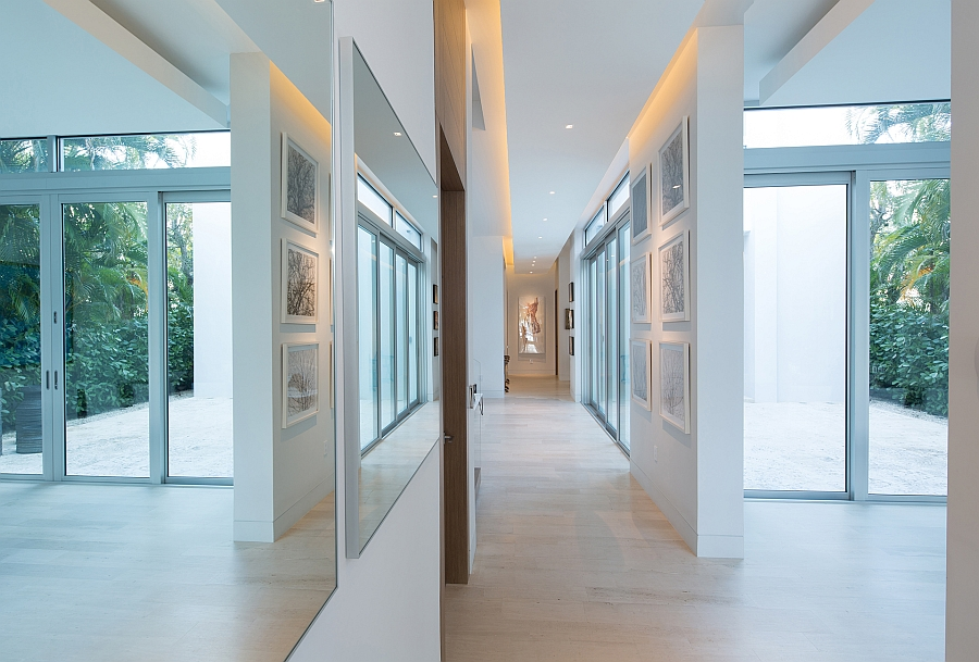 Gallery-styled corridor of the beautiful bay residence