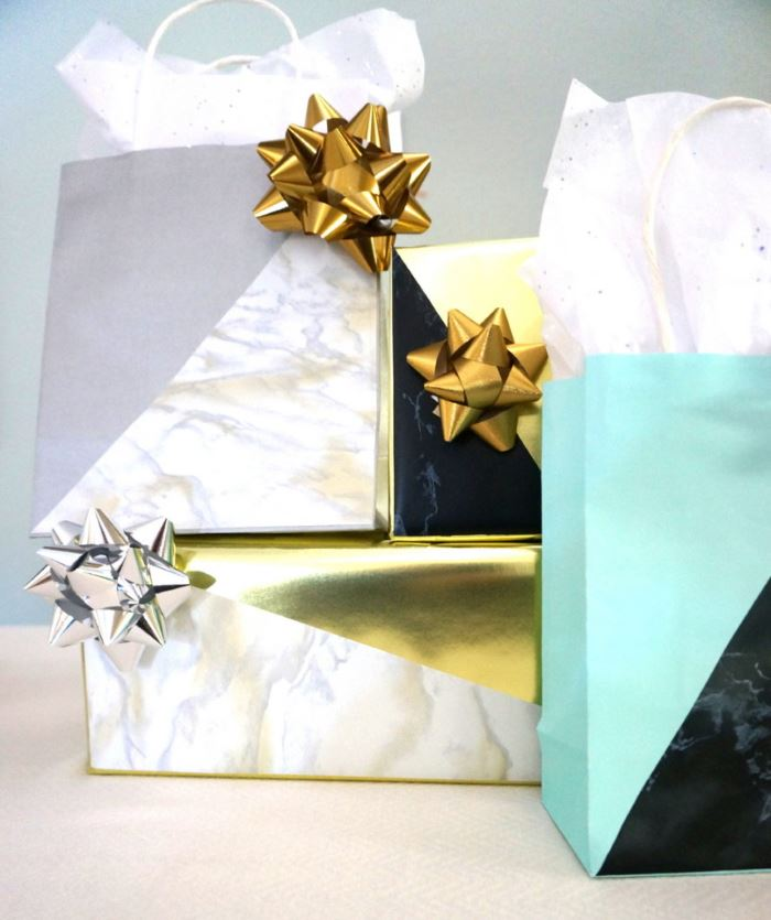 Geo gift wrap tutorial from Mirror80