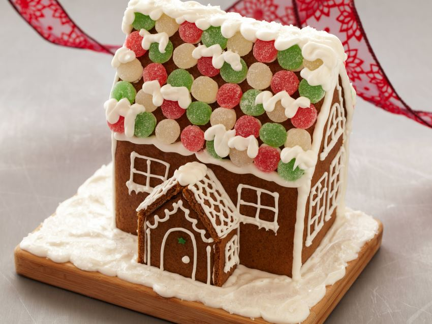 Gingerbread house recipe from Food Network