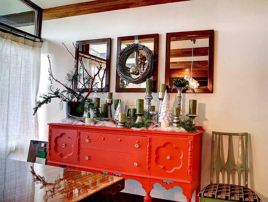 Give your festive dining room a bright, fun focal point [Design: Mindi Freng Designs]