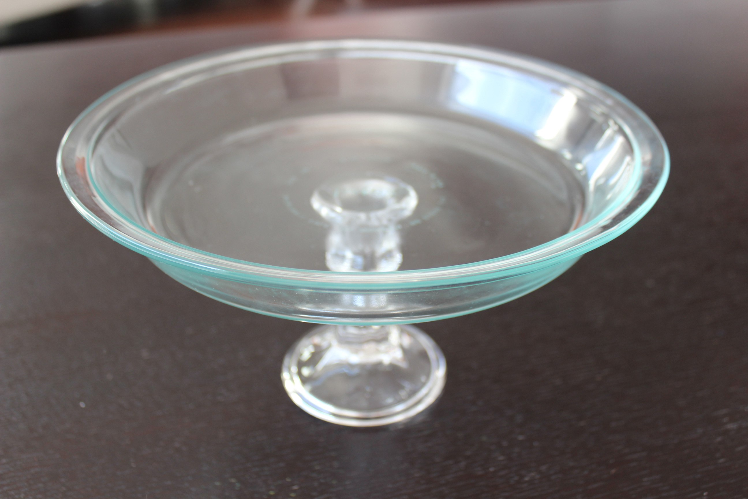 Diy how to make a pedestal cake stand for under 10 for Plate cake stand diy