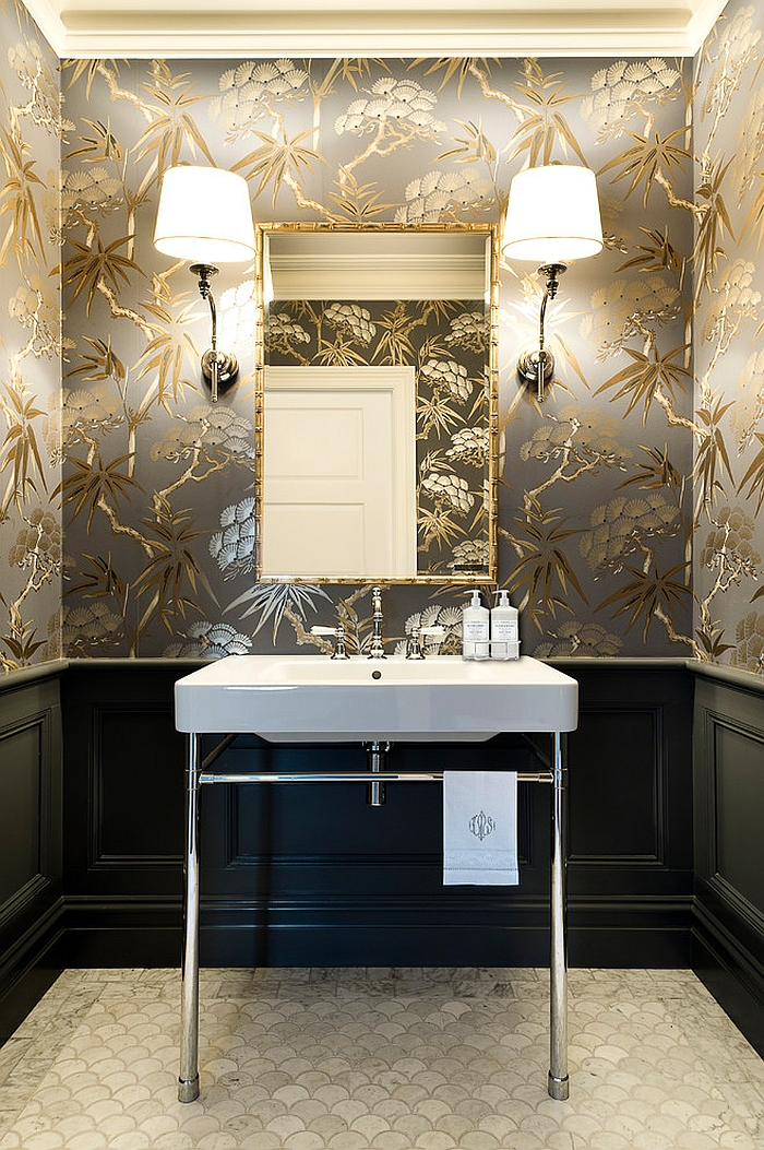 Powder Room Glam Decor Ideas
