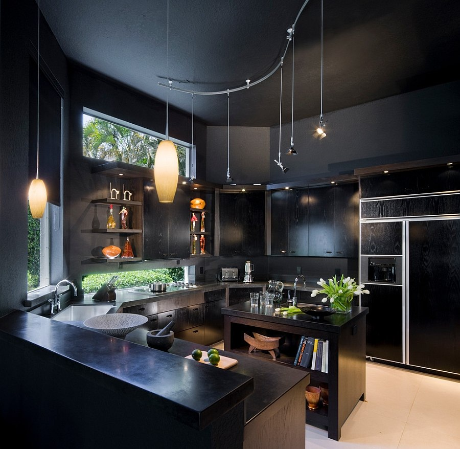 Contemporary kitchen designs 2015 - View In Gallery Gorgeous Contemporary Kitchen For Those Who Love Black Design Tomas Frenes Design Studio
